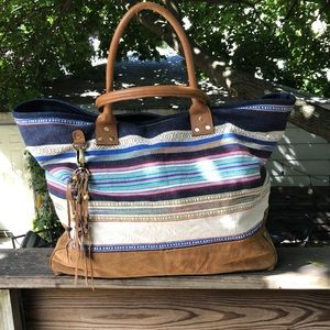 Boho Tapestry 👜 with Suede Bottom